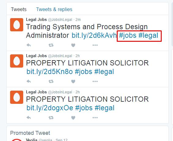 jobs hash tags