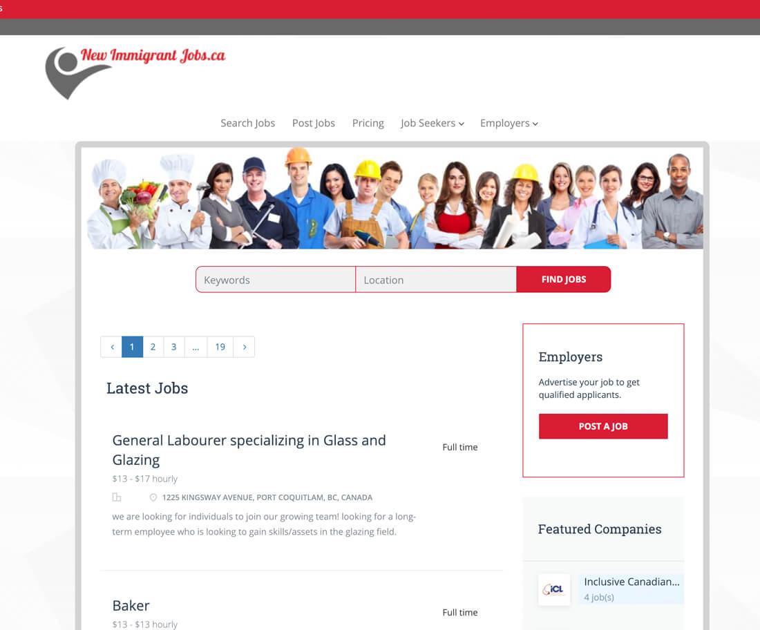 newimmigrantjobs.ca