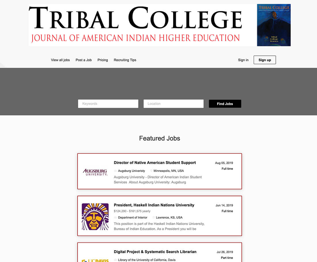 jobs.tribalcollegejournal.org