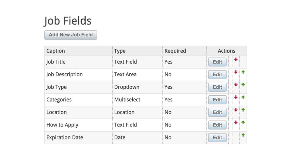Customize Listing Fields