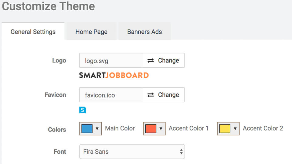 Customize the design of your job board