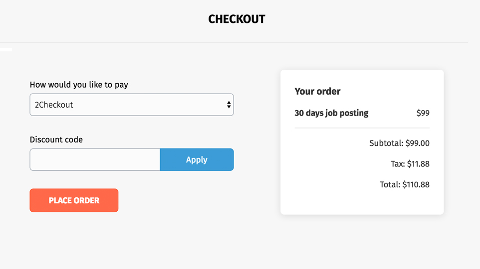 Seamless checkout process